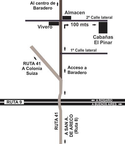 El Pinar de Baradero - Acceso